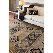 7 X 11 Area Rugs Meticulously Woven Black Grey Southwestern Aztec Nomad Area Rug 7