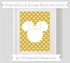 free metallic gold heart pattern minnie mouse 8 10 art print