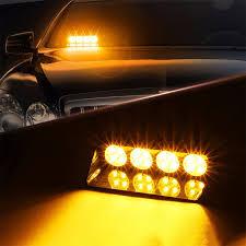 use of amber lights on vehicles 12v 16 led car strobe flash emergency lights auto dash headlight