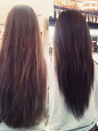 hairstyles back view only long hair with a v shape cut at the back women hairstyles