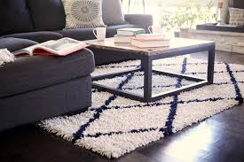 Blue Fuzzy Rug Floor Ivory Shag Rug Design Ideas With Cool Dark Grey Sofa Plus