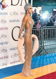 topless pictures of rihanna rihanna wore a see through gown to the cfda awards fashionista
