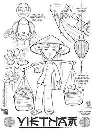 Coloriage  dessin enfant Vietnam  Dessins  coloriages des pays du