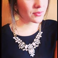 statement necklace white images How to wear white statement necklaces style guide jpg