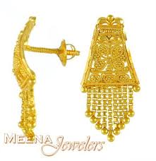 gold earrings tops gold tops with hangings ergt3152 22k gold earrings with