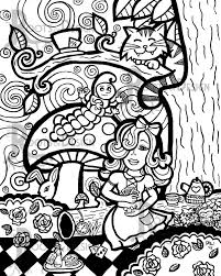 instant download coloring page alice in wonderland