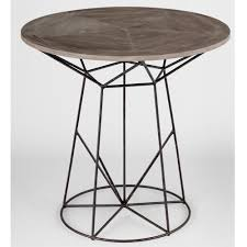 Oak Bistro Table Justus Industrial Wire Frame Oak Bistro Table Kathy Kuo Home