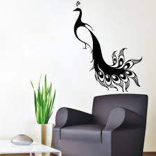 wall decor stickers cheap top 25 best flower wall stickers ideas wall decor stickers cheap popular peacock wall decal buy cheap peacock wall decal lots from set