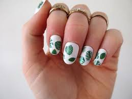 leaf nail tattoos leaf nail decals nail art boho nails