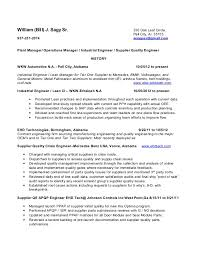 Manufacturing Engineer Resume Sample by New Construction Resumes Basic Resume Templates