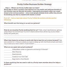 Strategy Worksheet Where Can Purity Coffee Take Our Team