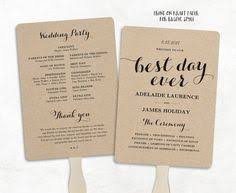 wedding ceremony program fans printable wedding program template rustic wedding fan program
