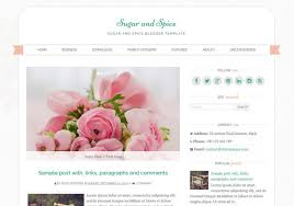 sugar and spice blogger template u2022 blogspot templates 2018