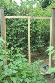 diy garden gazebo from pallet wood part 2 trellis panels and door