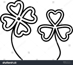 clover four three leaves vector illustration stock vector