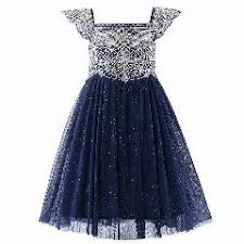 newest summer style navy pink tulle girls dress with exquisite