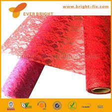 cheap deco mesh rainbow color plastic decorative mesh flower metallic deco mesh