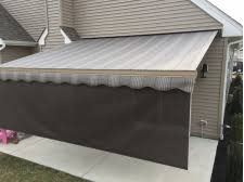 Retractable Awning With Screen Patio Awning On Brick House Design Ideas U0026 Pictures