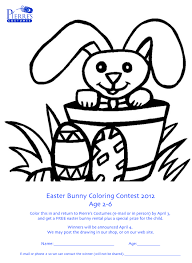 easter bunny coloring contest win a free easter bunny rental