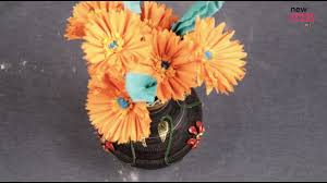 beautiful pot painting with mseal and fabric paints home decor