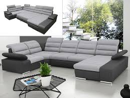 acheter canapé d angle convertible canapé d angle panoramique convertible gris ou bleu boileau