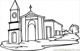 download church coloring pages printable