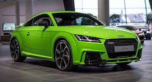 audi tt colors lime green audi tt rs looks much better than expected