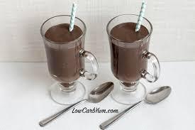 dark chocolate frosty milkshake low carb yum
