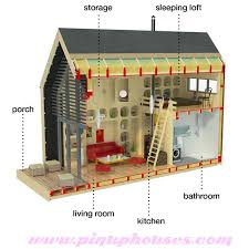 free cabin plans with loft tiny house plans with construction process complete set of
