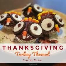 thanksgiving turkey cupcakes dessert recipe with scoop