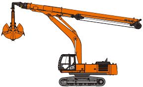 clamshell telescopic arm excavators hitachi construction machinery