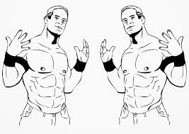 wwe coloring pages john cena u0027s style coloringstar