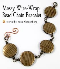 bracelet wrap wire images Messy wire wrap bead chain bracelet tutorial jewelry making jpg