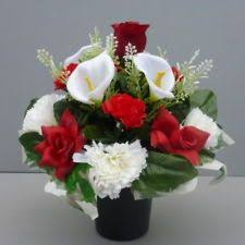 Memorial Vases For Graves Uk Artificial Flower Arrangements For Graves Artificial Silk Flower