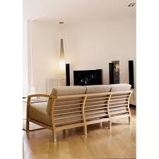 canape en bois canapé design 3 places helena structure bois massif revêtement