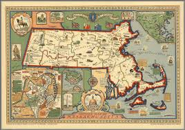 A Map Of Massachusetts by Picture Map Of Massachusetts David Rumsey Historical Map Collection