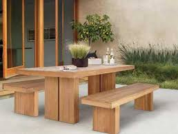 wooden outdoor table outdoorlivingdecor