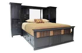 Mor Furniture Portland Oregon by San Mateo Black Tall Wall King Bed With Pedestal Mor Furniture