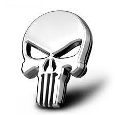 gift 3d skull car sticker metal ghost for harley davidson