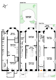 Row Houses Floor Plans Brownstone Row House Plans House Design Plans