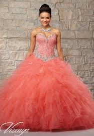 coral quince dress vizcaya 89032 beaded lace quinceanera dress novelty