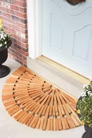 diy wooden door mat made from cedar and jute twine i am inspired