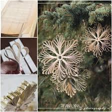 diy paper book snowflake ornaments beesdiy com