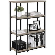 Oak Room Divider Shelves Elmwood Bookcase Room Divider Set Of 2 Sonoma Oak Walmart