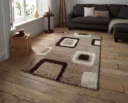 Modern Shaggy Rugs by Decorative Floor Rug Contemporary Multi Tonal Square Pattern