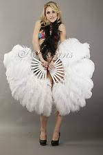 ostrich feather fans white ostrich feather fan ebay