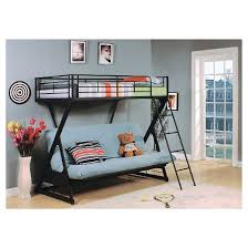 Bunk Bed With Desk And Futon Zazie Kids Futon Bunk Bed Sandy Black Twin Full Acme Target