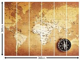 Compass Map Old Compass World Map Wallpaper Wall Mural By Loveabode Com