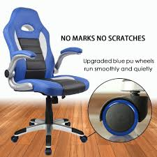 Blue Leather Executive Office Chair Amazon Com Homall Racing Chair Ergonomic High Back Gaming Chair