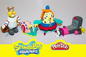 play doh spongebob u0027s friends characters tutorial youtube